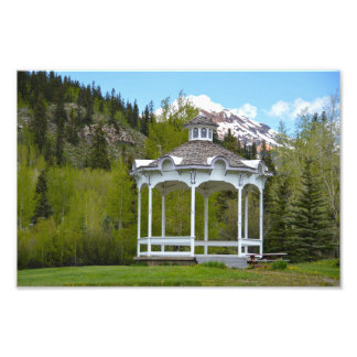 Victorian Gazebo, Silverton, Colorado Photo Print