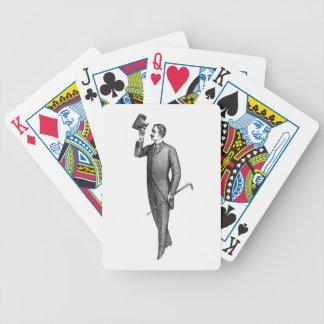 Victorian Gentleman Selfie Bicycle Playing Cards