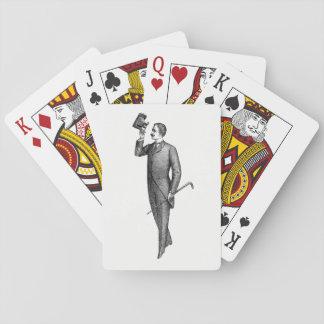 Victorian Gentleman Selfie Playing Cards