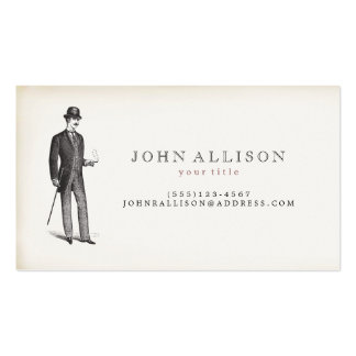 Victorian Gentleman's Vintage Calling Card 2 Business Card
