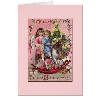 Victorian German Frohe Weihnachten Christmas Card