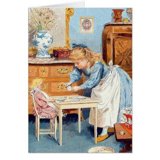 Victorian Girl All Occasion Custom Greeting Card