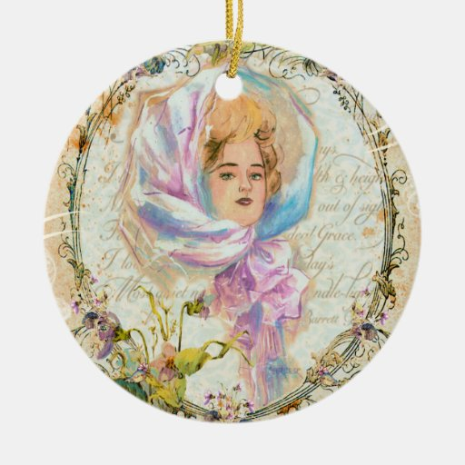 Victorian Girl Christmas Ornament
