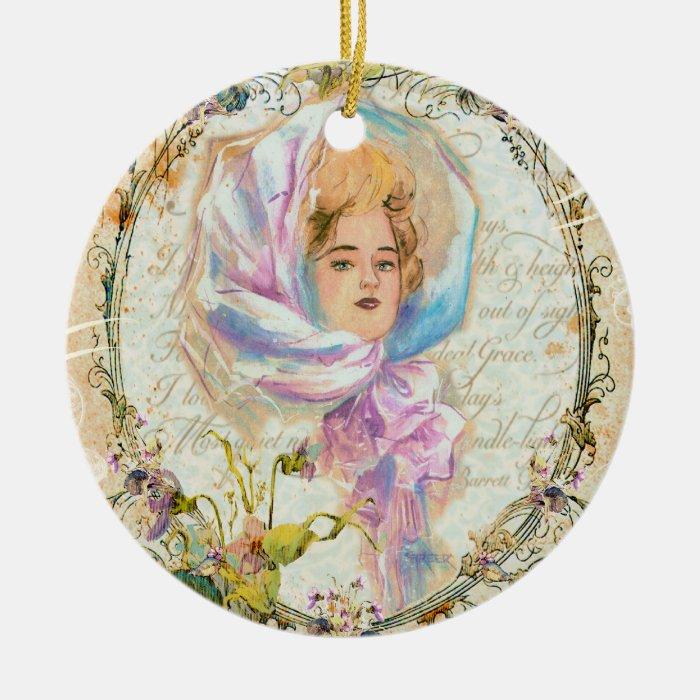 Victorian Girl Christmas Ornament