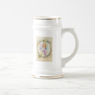 VICTORIAN GIRL HARRISON FISHER STYLE PRINT cropped Beer Stein