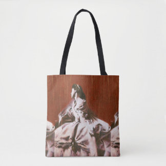 Victorian Girl In White All Over Print Bag