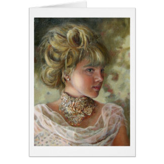 Victorian Girl Notecard