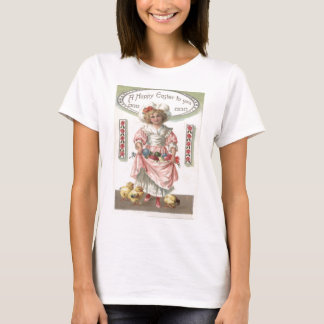 Victorian Girl Painted Colored Easter Egg Rose T-Shirt