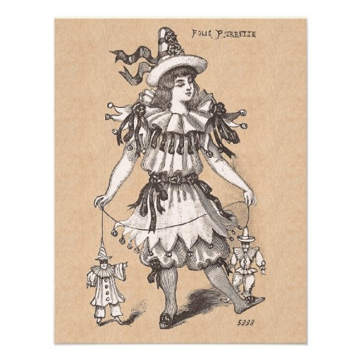 Victorian Girl's Vintage Fashions Party Costume Personalized Invites