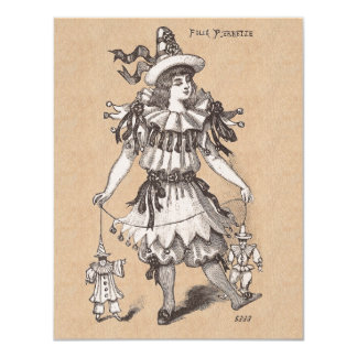 Victorian Girl's Vintage Fashions Party Costume 11 Cm X 14 Cm Invitation Card
