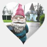 Victorian Gnome Heart Sticker