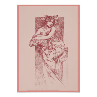Victorian Goddess in Rose  Card