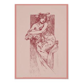 Victorian Goddess in Rose  Card