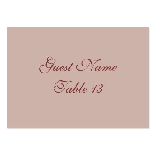 Victorian Goddess in Rose Wedding table card Business Card Templates