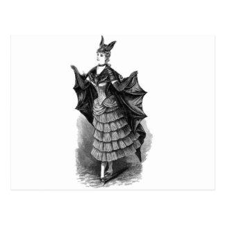 Victorian/Gothic Batgirl/Bat Costume Postcard