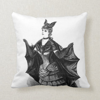 "Victorian/Gothic Batgirl Costume, 20"" Throw Pillow"