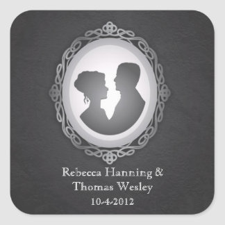 Victorian Gothic Cameo Wedding Stickers