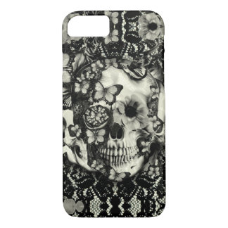 Victorian gothic lace skull pattern iPhone 7 case
