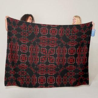Victorian Gothic Skulls & Roses Silk Mandala Fleece Blanket