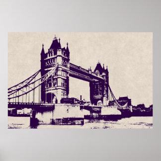VICTORIAN GOTHIC TOWER BRIDGE - LONDON POSTER
