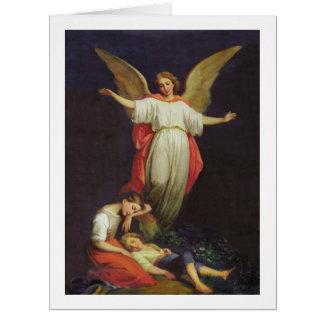 Victorian Guardian Angel Card