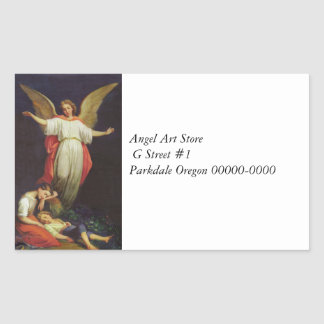 Victorian Guardian Angel Rectangular Sticker