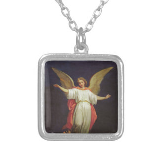 Victorian Guardian Angel Silver Plated Necklace