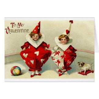 Victorian Harlequin Valentine's Day Card