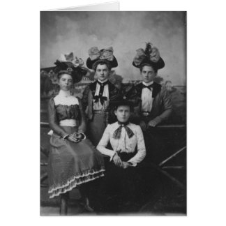 Victorian Hatty Girls Card