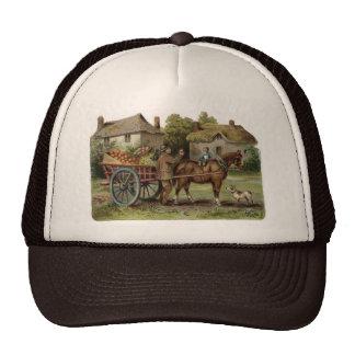 Victorian Horse Drawn Apple Cart Cap