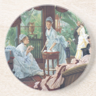 Victorian House Party Tea Fashion Tissot Beverage Coaster