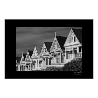 Victorian Houses on Steiner Street, Alamo Square, Poster