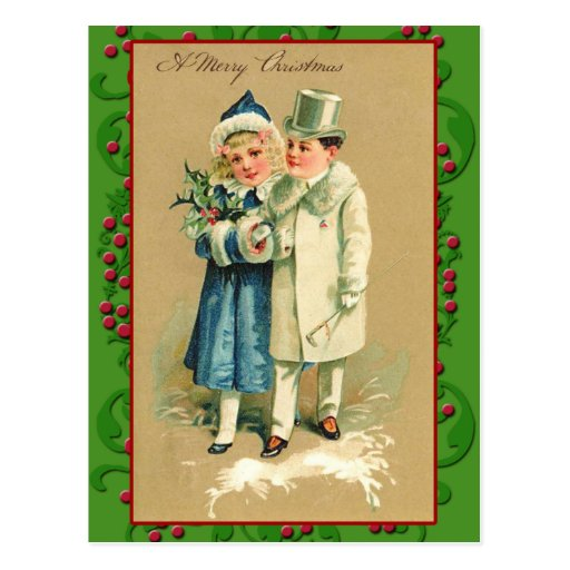 Victorian Illustration on Christmas Cards Post Cards