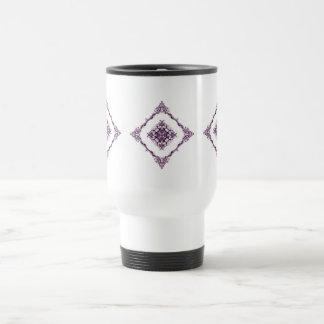 Victorian Inspired Purple Fractal Diamond Design Coffee Mug