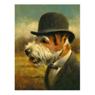 Victorian Jack Russell Post Card