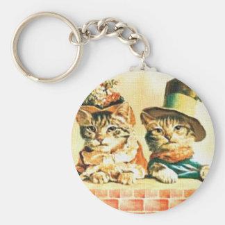 Victorian Kittens Keychain