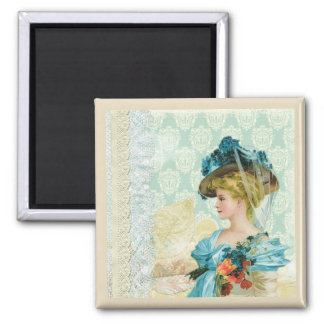 Victorian Lady Art Collage Magnet