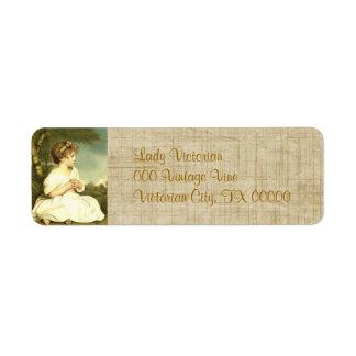 Victorian Lady Garden Return Address Labels