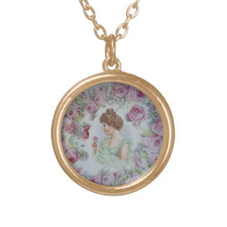 Victorian Lady II Gold Plated Necklace