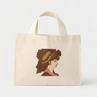 Victorian Lady Image Tote Bag