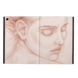 Victorian Lady Portrait Drawing iPad Air Case