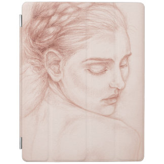 Victorian Lady Portrait Drawing iPad Cover