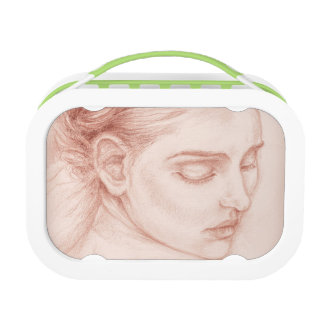 Victorian Lady Portrait Drawing Lunch Box