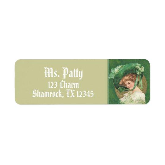 Victorian Lady Return Address Labels