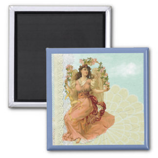 Victorian Lady Vintage Collage Magnet