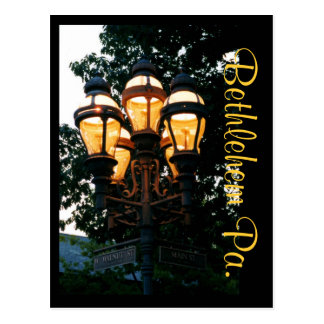 Victorian Lamp Beth post card