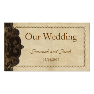 Victorian Leather  Steampunk Wedding Website Card Double-Sided Standard Business Cards (Pack Of 100)