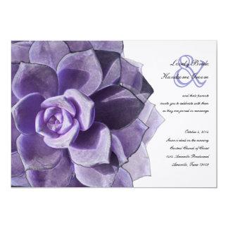 Victorian Lilac Layered Succulent Wedding Invite