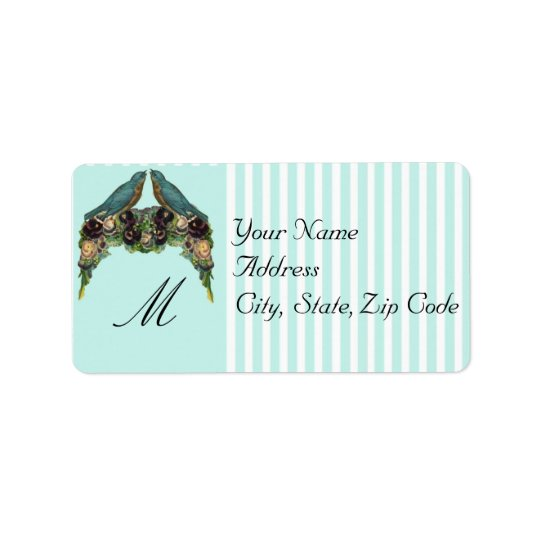Victorian Love Birds Address Labels