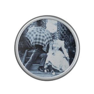 Victorian Lovers Sneaking Kiss Vintage Stereoview Speaker